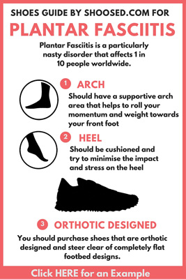 plantar fasciitis shoes guide